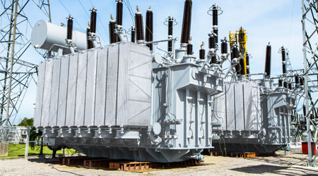 Image of electrical transformers.