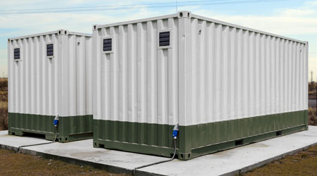 Image of a container buildings.