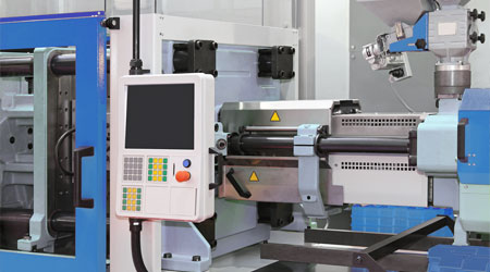 Image of a injection molding machine.