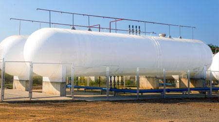 Image of a horizontal tank.